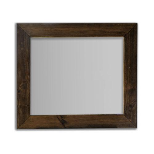 Espejo cuadrado nogal viejo